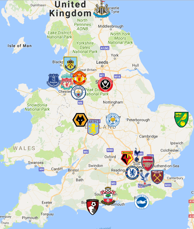 2019-Premier-League-England-Map